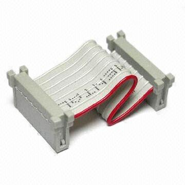 Flat Ribbon Cable with 2.54mm Low Profile Single Row IDC Socket